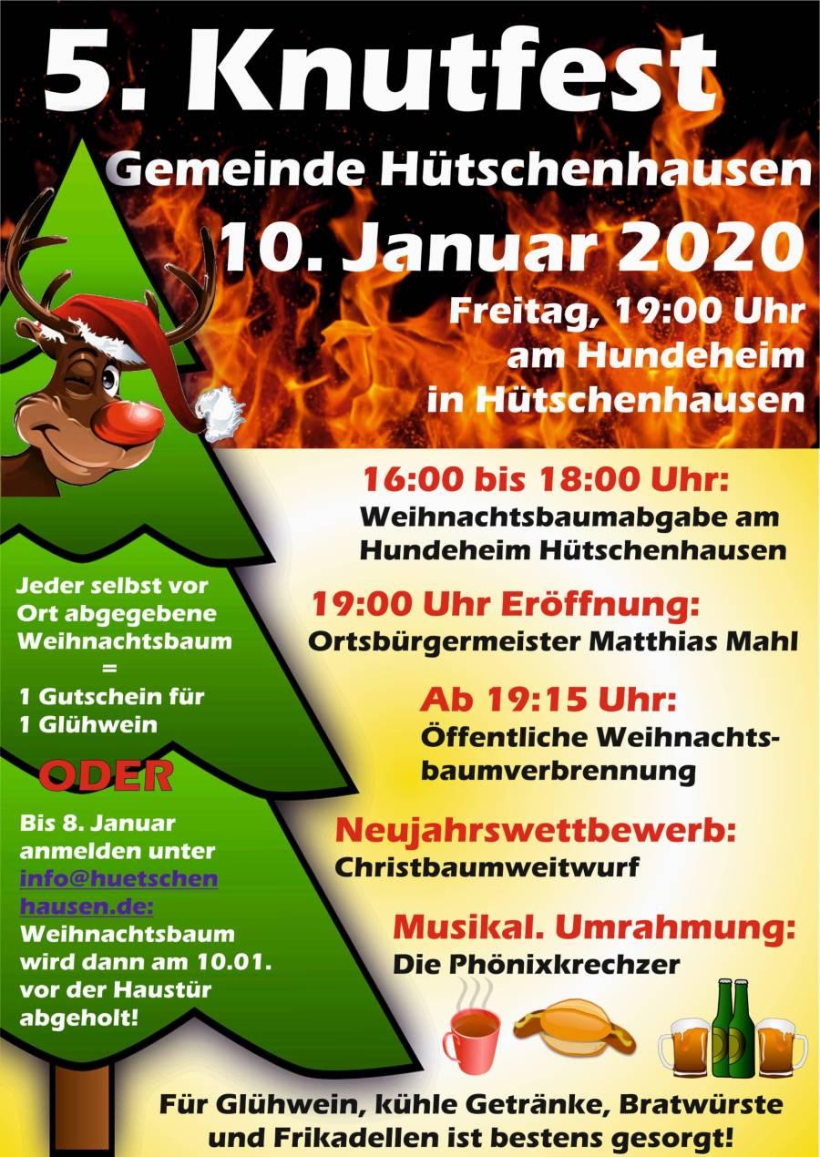 Plakat des Knutfestes in der OG Hütschenhausen